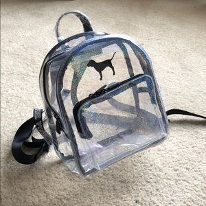 Iridescent Clear Mini VS/PINK Backpack